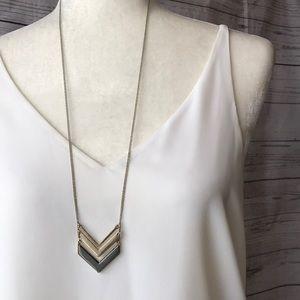 Long Gold Arrow Necklace
